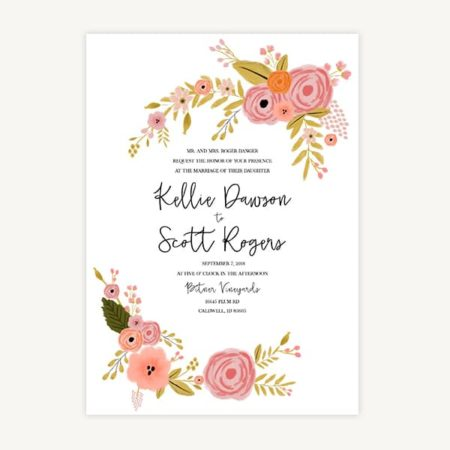 Wedding Invitation Template C2